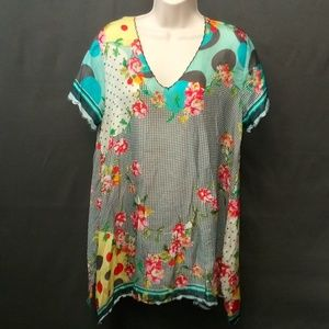 Small Johnny Was Silk Blouse Tunic dress